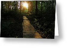 Boardwalk To The Sun Greeting Card