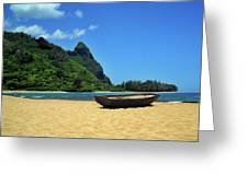 Boat And Bali Hai Greeting Card
