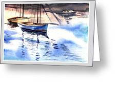 Boat And The River Greeting Card