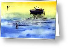 Boat And The Seagull Greeting Card