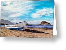 Boat Ashore Greeting Card