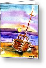 Boat Ashore Greeting Card