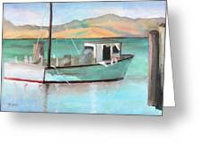Boat At China Camp State Park Greeting Card