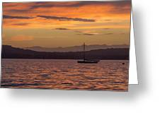 Boat By Holywood Greeting Card