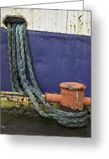Boat Detail Husavik Iceland 3701 Greeting Card