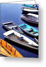 Boat Dock Camp Ellis Greeting Card
