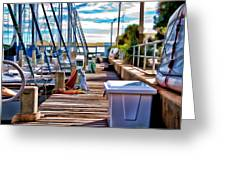 Boat Dock Greeting Card