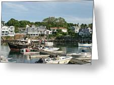 Boat Dock Greeting Card