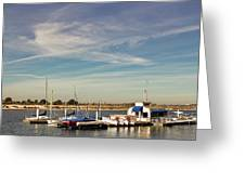 Boat Dock On The Bay Greeting Card