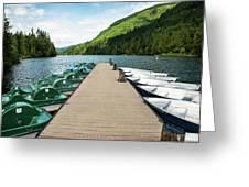 Boat Fun At Silver Lake Greeting Card