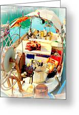 Enter My Boat And Let's Go Away From It All And Never Look Back  Greeting Card