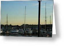 Boat Harbor Greeting Card