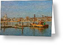 Boat Harbor Province Town Greeting Card
