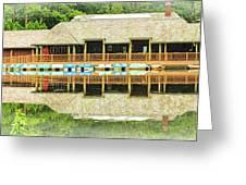 Boat House At Verona Park  Greeting Card