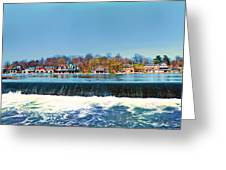 Boat House Row From Fairmount Dam Greeting Card