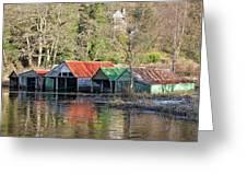 Boat Huts Greeting Card