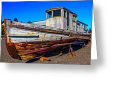 Boat In Dry Dock Greeting Card