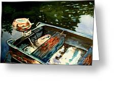 Boat In Fog 2 Greeting Card