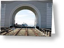 Boat In The Arch Greeting Card