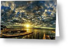 Boat Launch Sunrise Greeting Card