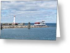Boat Leaving Greeting Card