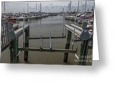 Boat Lift Greeting Card