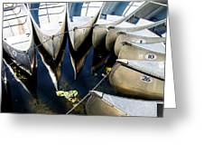 Boat Load Of Reflections Greeting Card
