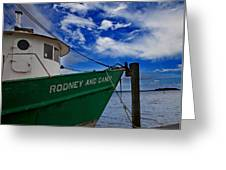 Boat Love In Apalachicola Greeting Card