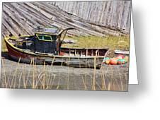 Boat N Buoys Greeting Card