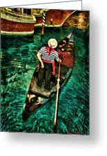 Boat Of Venice Greeting Card