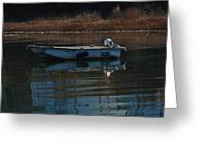 Boat On A Calm Day Greeting Card