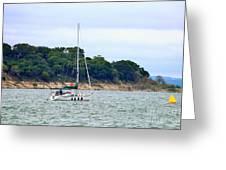 Boat On A Lake Greeting Card