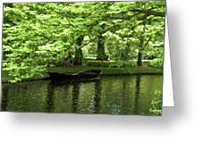 Boat On A Lake Greeting Card