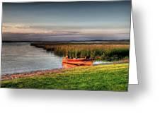 Boat On A Minnesota Lake Greeting Card