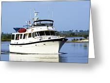 Boat On Pellicer Creek Greeting Card