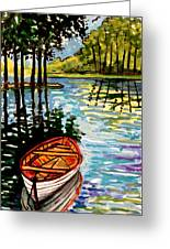 Boat On The Bayou Greeting Card