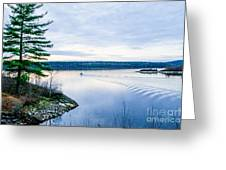 Boat On The Lake Greeting Card