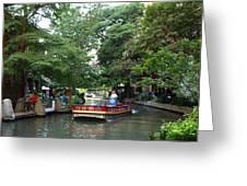 Boat On The San Antonio River Greeting Card