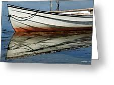 Boat Reflected Greeting Card