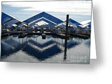 Boat Reflection On Lake Coeur D'alene Greeting Card