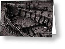 Boat Remains Greeting Card by Carlos Caetano