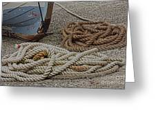 Boat Ropes Greeting Card