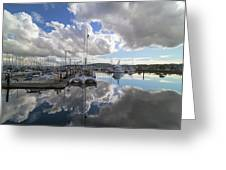 Boat Slips At Anacortes Cap Sante Marina In Washington State Greeting Card