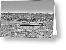 Lobster Boat Mount Sinai Harbor Li.ny Greeting Card