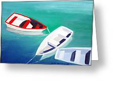 Boat Trio Greeting Card