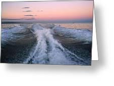 Boat Waves Greeting Card