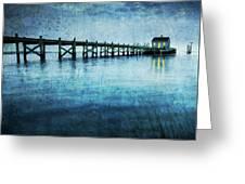 Boathouse Blue Greeting Card