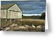 Boathouse Greeting Card by John Greim