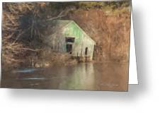 Boathouse On Solstice Greeting Card