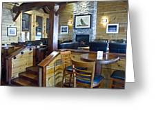 Boathouse Restaurant Greeting Card by Michael Rutland